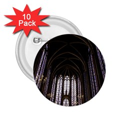 Sainte Chapelle Paris Stained Glass 2 25  Buttons (10 Pack)