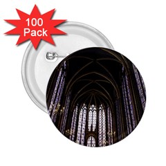 Sainte Chapelle Paris Stained Glass 2 25  Buttons (100 Pack)  by Nexatart