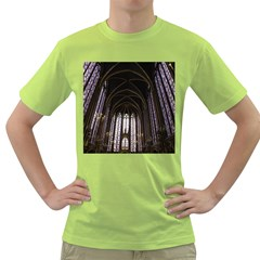 Sainte Chapelle Paris Stained Glass Green T Shirt