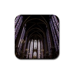 Sainte Chapelle Paris Stained Glass Rubber Square Coaster (4 Pack)