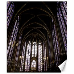 Sainte Chapelle Paris Stained Glass Canvas 20  X 24