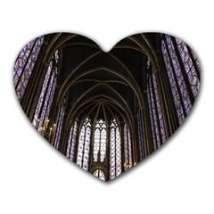 Sainte Chapelle Paris Stained Glass Heart Mousepads