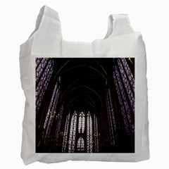 Sainte Chapelle Paris Stained Glass Recycle Bag (two Side)