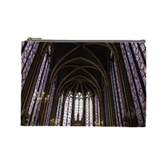 Sainte Chapelle Paris Stained Glass Cosmetic Bag (large)