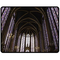 Sainte Chapelle Paris Stained Glass Fleece Blanket (medium)