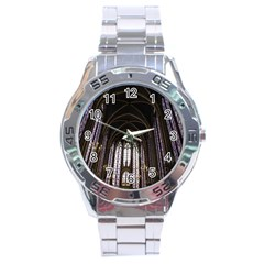 Sainte Chapelle Paris Stained Glass Stainless Steel Analogue Watch