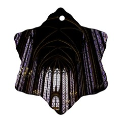 Sainte Chapelle Paris Stained Glass Ornament (snowflake) by Nexatart