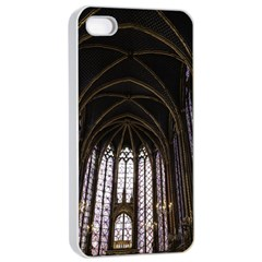 Sainte Chapelle Paris Stained Glass Apple Iphone 4/4s Seamless Case (white)