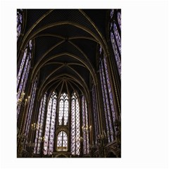 Sainte Chapelle Paris Stained Glass Large Garden Flag (two Sides) by Nexatart