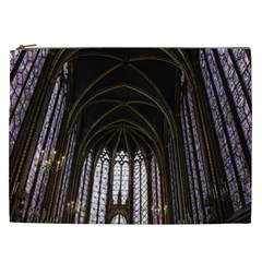 Sainte Chapelle Paris Stained Glass Cosmetic Bag (xxl)  by Nexatart