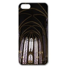 Sainte Chapelle Paris Stained Glass Apple Seamless Iphone 5 Case (clear)