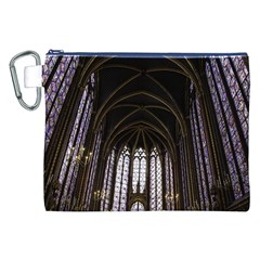 Sainte Chapelle Paris Stained Glass Canvas Cosmetic Bag (xxl) by Nexatart