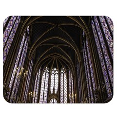 Sainte Chapelle Paris Stained Glass Double Sided Flano Blanket (medium)