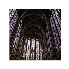 Sainte Chapelle Paris Stained Glass Small Satin Scarf (square) by Nexatart