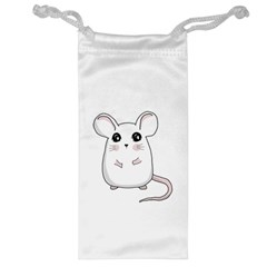 Cute Mouse Jewelry Bag by Valentinaart