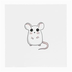 Cute Mouse Medium Glasses Cloth (2 Side) by Valentinaart