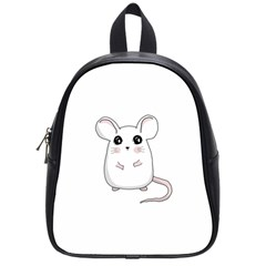 Cute Mouse School Bag (small) by Valentinaart