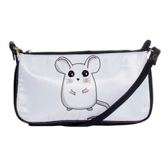Cute Mouse Shoulder Clutch Bags by Valentinaart