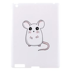 Cute Mouse Apple Ipad 3/4 Hardshell Case by Valentinaart