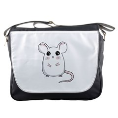 Cute Mouse Messenger Bags by Valentinaart