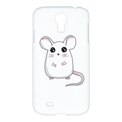 Cute Mouse Samsung Galaxy S4 I9500/i9505 Hardshell Case by Valentinaart