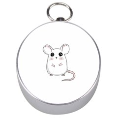 Cute Mouse Silver Compasses by Valentinaart