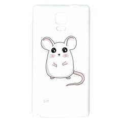 Cute Mouse Galaxy Note 4 Back Case by Valentinaart