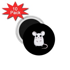 Cute Mouse 1 75  Magnets (10 Pack)  by Valentinaart