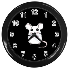 Cute Mouse Wall Clocks (black) by Valentinaart