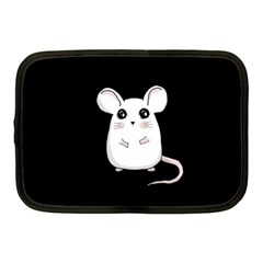 Cute Mouse Netbook Case (medium)  by Valentinaart