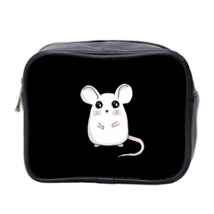 Cute Mouse Mini Toiletries Bag 2 Side by Valentinaart