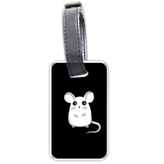 Cute Mouse Luggage Tags (two Sides) by Valentinaart