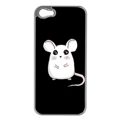 Cute Mouse Apple Iphone 5 Case (silver) by Valentinaart