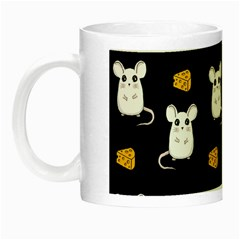 Cute Mouse Pattern Night Luminous Mugs by Valentinaart