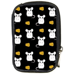 Cute Mouse Pattern Compact Camera Cases by Valentinaart