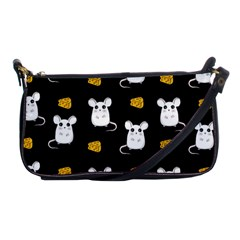Cute Mouse Pattern Shoulder Clutch Bags by Valentinaart