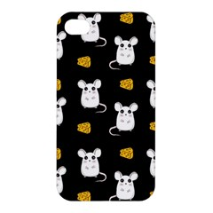 Cute Mouse Pattern Apple Iphone 4/4s Premium Hardshell Case by Valentinaart