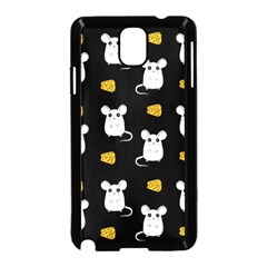 Cute Mouse Pattern Samsung Galaxy Note 3 Neo Hardshell Case (black) by Valentinaart
