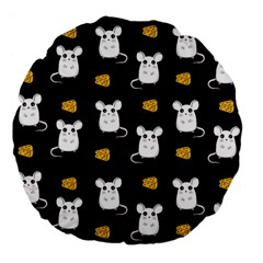 Cute Mouse Pattern Large 18  Premium Flano Round Cushions by Valentinaart