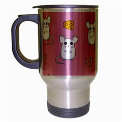 Cute Mouse Pattern Travel Mug (silver Gray) by Valentinaart