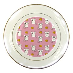 Cute Mouse Pattern Porcelain Plates by Valentinaart