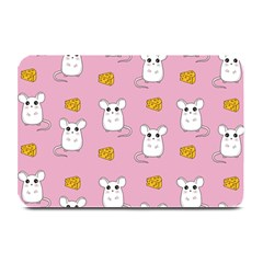 Cute Mouse Pattern Plate Mats by Valentinaart
