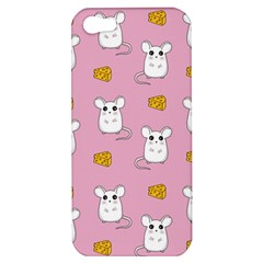 Cute Mouse Pattern Apple Iphone 5 Hardshell Case by Valentinaart