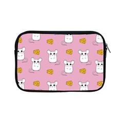 Cute Mouse Pattern Apple Ipad Mini Zipper Cases by Valentinaart