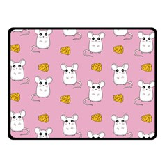 Cute Mouse Pattern Double Sided Fleece Blanket (small)  by Valentinaart