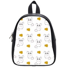 Cute Mouse Pattern School Bag (small) by Valentinaart
