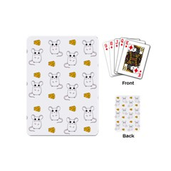Cute Mouse Pattern Playing Cards (mini)  by Valentinaart