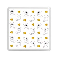 Cute Mouse Pattern Memory Card Reader (square)  by Valentinaart