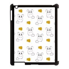 Cute Mouse Pattern Apple Ipad 3/4 Case (black) by Valentinaart