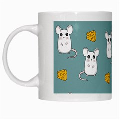 Cute Mouse Pattern White Mugs by Valentinaart